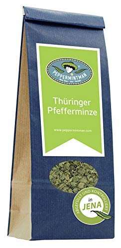 Thüringer Pfefferminztee - 60g und 200g - Thüringer Pfefferminze - hocharomatische Blätter - PEPPERMINTMAN - Papiertüte (60g)