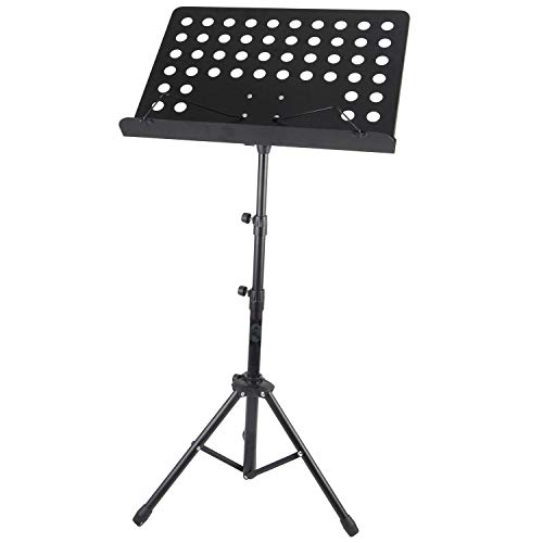 Height Adjustable Foldable Music Orchestral Book, Paper & Mic Holder Tripod Stand With Carry Bag (Book Holder Tripod Stand)