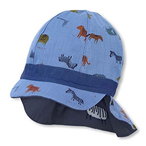 Sterntaler Baby Jungen Wende-Schirmmütze M.nackensch. 1602140 Winter Hut, Blau, 47 EU
