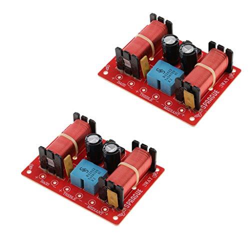 Baoblaze 2 Unids de 3 Vías Divisores de Frecuencia Filtro de Audio Cruce de Altavoz Reemplazos de Repuestos para Altavoces