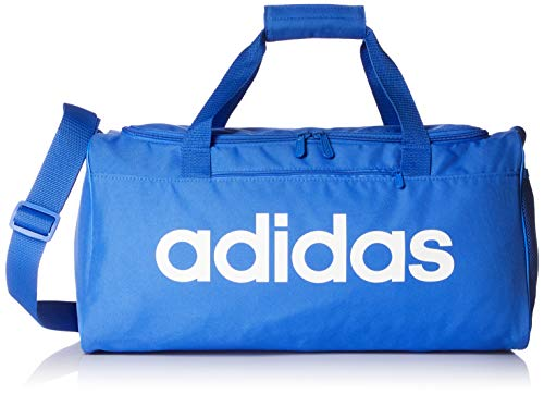 adidas Linear Core Small Duffel Bag - True Blue/True Blue/White, One Size
