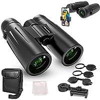 UBeesize 12x42 Waterproof Binocular with Phone Holder