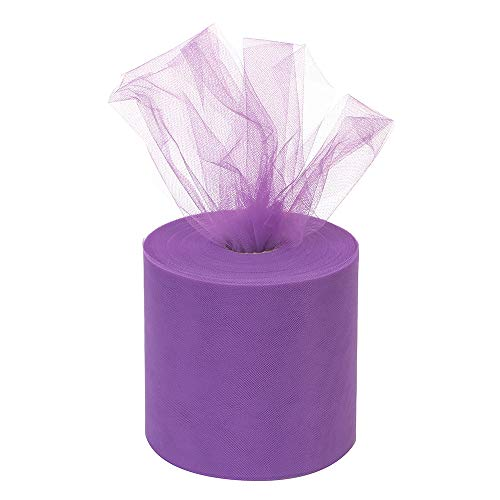 Tulle Roll 6Inchx200Yards(600ft) Tulle Ribbon Tulle Fabric Table Skirt Wedding Decorations Gift Wrapping (Lavender)