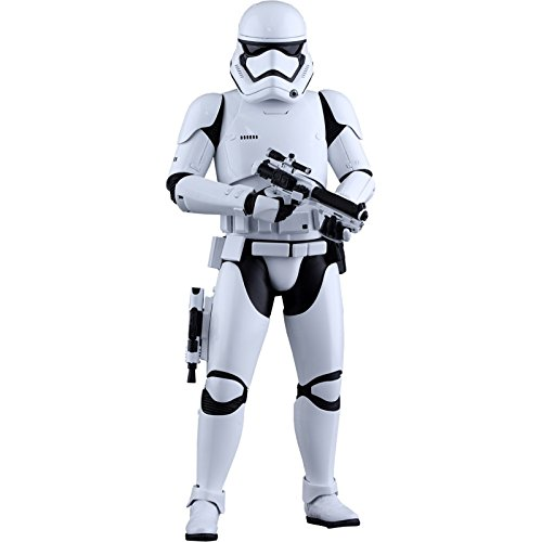 Hot Toys HT902536 Figura di Stormtrooper: Star Wars- The Force First Order, Scala 1:6, Bianco e Nero