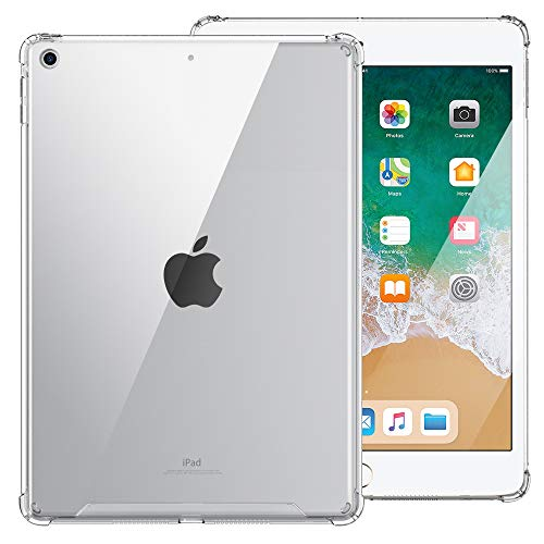 MoKo Custodia per 2018/2017 iPad 9.7 6th/5th Generation, Custodia protettiva Tablet in PC, TPU Trasparente con Ritagli precisi, Cover per iPad 9.7 Inch 2018/2017 - Transparente