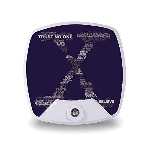 Wisdom of The X-Files Veilleuse avec détecteur de mouvement pour garçons filles enfants adultes