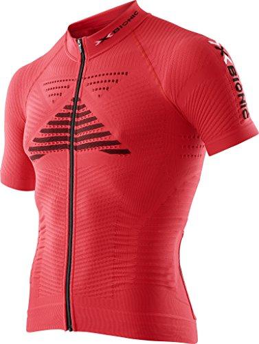 X-BIONIC - Effektor Power Ow SH_SL. Full Zip, Maillot de vélo pour Homme S Rosso Flash/Nero