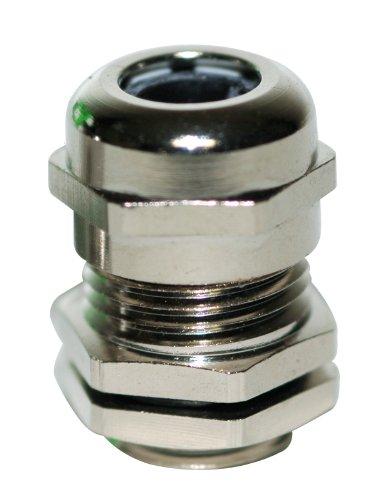 Kabelverschraubung Kabelverbinder Metall Größe PG21 mit Gegenmutter, zur Kabeldurchführung, Messing, 5 Stück