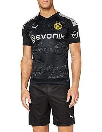 PUMA 2a Equipación 19/20 Borussia Dortmund Replica con Evonik Opel Logo Maillot, Hombre, Black, M