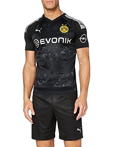 PUMA 2a Equipación 19/20 Borussia Dortmund Replica con Evonik Opel Logo Maillot, Hombre, Black, XL
