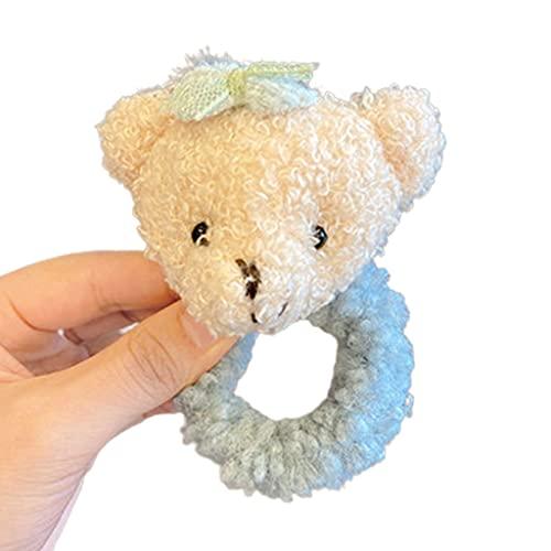 Lowral, coloridas bandas para el pelo para niñas y bebés, Scrunchies, soporte elástico para cola de caballo, soporte para el cabello dulce, cuerdas para bebés, mujeres, niñas y niños