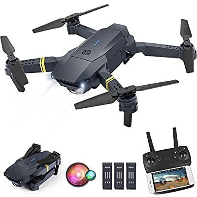 ORRENTE Drone with Camera for Adults, WiFi FPV Drone with 1080P HD Camera for Beginners, Drone Training with Shot Switching, Trajectory Flight and Gravity Control, One Key Take Off/Landing by ORRENTE