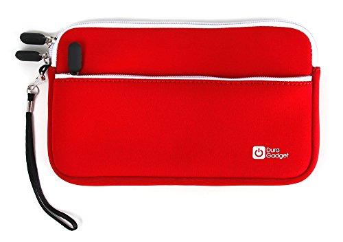 DURAGADGET Custodia per Texas Instruments Ti-Nspire CX CAS | Ti 82 Advanced | TI-92 Plus + Corda di Trasporto - Design Rossa - con Tasca Interna