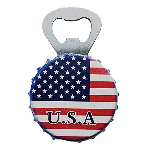 MUYU Magnet 3D Amerika Nationalflagge Kühlschrankmagnet Flaschenöffner Reise Souvenir Geschenk Home & Kitchen Dekoration, magnetischer Aufkleber, USA Kühlschrankmagnet Flaschenöffner