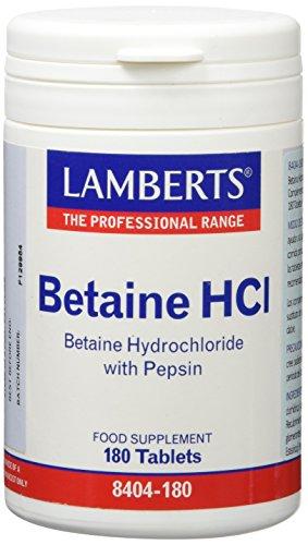 Lamberts Betaína HCl 324mg Pepsina 5mg - 180 Tabletas