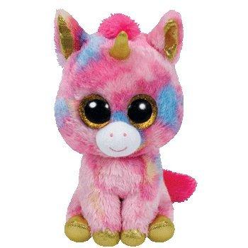 TY - Fantasía, peluche unicornio, 15 cm, color multicolor (36158TY)