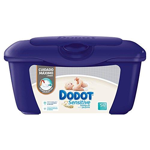 Dodot Sensitive - Caja de para bebé 54 Toalitas - Pack de 6 (Total 324 Toalitas)
