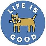 Life is Good. 4' Circle Sticker - Rocket Bone - Marina Blue
