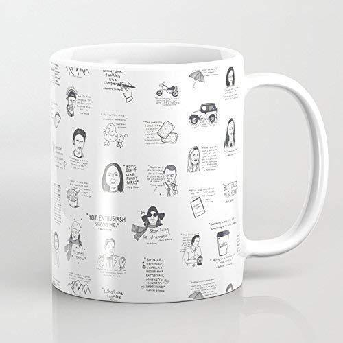 N\A Taza - Taza de café de cerámica con Citas de Gilmore Girls, Blanca, Divertida Taza de Vino, Taza de café de 11 oz, Bodas, día de la Madre, día del Padre o Amigos