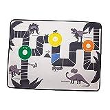CUTICATE Alfombrilla Multifunción para Juegos para Niños, Alfombra Estampada con Patrón de Dinosaurio, Divertido Juego de Aventuras para Niños Pequeños, Niñas