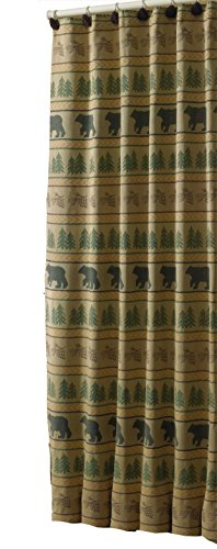 Park Designs Bear Tracks Shower Curtain, 72 x 72
