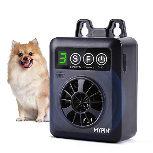 Anti Bellen Gerät, Bark Control Gerät mit 3 Einstellbaren Ultraschall Lautstärkestufen, Automatische Ultraschall Hundebellen Abschreckung für kleine Mittel