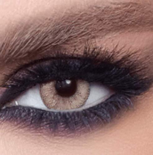 """natürliche stark deckende farbige Kontaktlinsen caramel Farblinsen """"Gray Caramel"""
