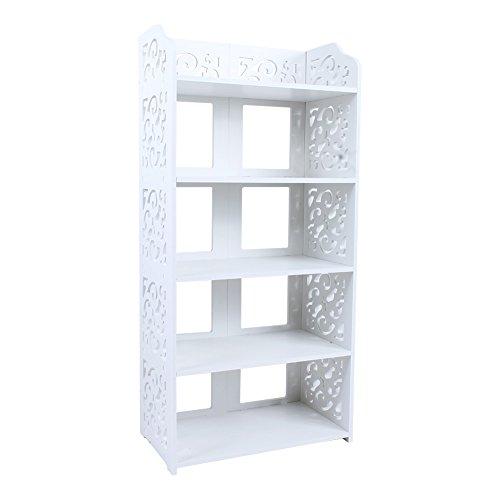 Michellda Zapatero de 5 pisos, de madera, hueco, organizador con fácil montaje...