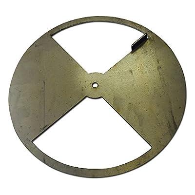 LavaLock® Smoker Pinwheel BBQ air Damper Pit Grill Vent, Steel 4 6 8 12