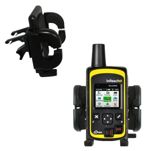 Innovative Vent Cradle Vehicle Mount Designed for The Delorme inReach SE - Adjustable Vent Clip Holder for Most Car/Auto Vent Systems