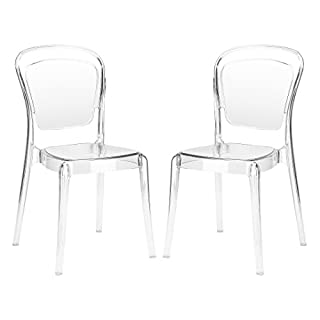 Poly and Bark Lucent Dining Side Chair (Set of 2), Clear (B01CVJ4KAI) | Amazon price tracker / tracking, Amazon price history charts, Amazon price watches, Amazon price drop alerts