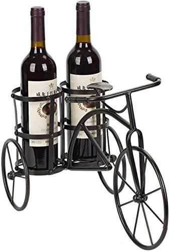 Scultura,Estatuas Soportes Creativos para Botellas De Vino Hogar Red Wine Rack Decoración Retro Bar Hierro Forjado Bicicleta Wine Rack Soporte De Exhibición De Vino Artesanía De Metal Esculturas