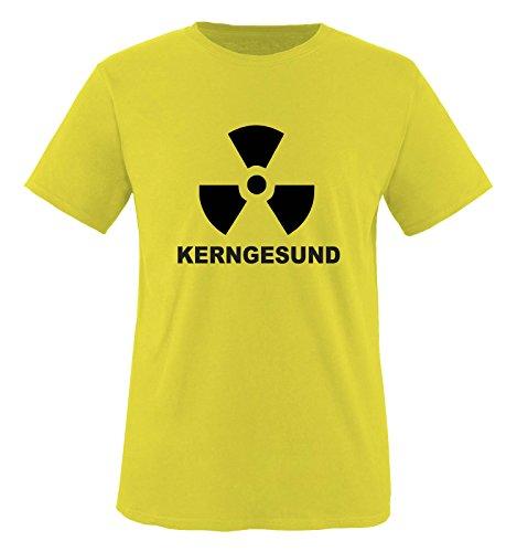 Comedy Shirts Plusieurs Coloris – kerngesund. T-Shirt Unisexe XL Jaune/Noir