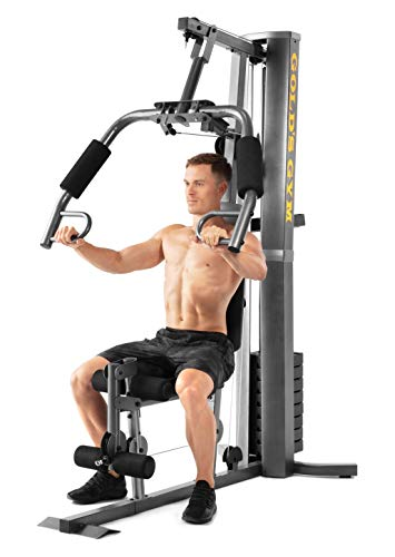 Gold's Gym XRS 50 Home Gym with up to 280 lbs of Resistance - High and Low Pulley System for Total Body Workout
