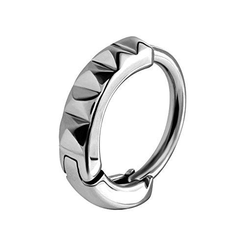 BodyJewelleryShop Huggy Stahl Bauchnabel-Ring - Studded