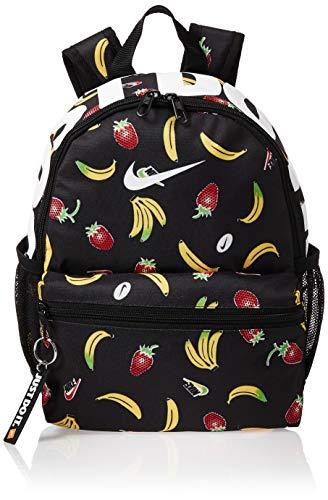 Nike Kids' Brasilia JDI Printed Backpack (Mini) (One Size, Black(CT5213-010)/White)