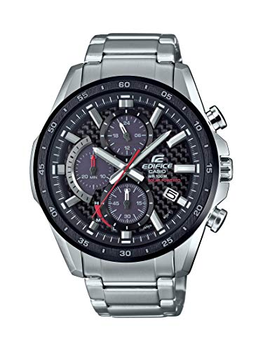 Casio Edifice Solar-Powered Quartz Men's Stainless Steel Watch (EQS-900DB-1AVCR)  $80 at Amazon