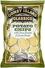 Coney Island Classics Sour Cream and Green Onion Potato Chips, 226 g