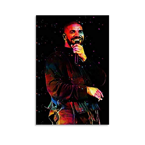 SHIYONG Drake Hip-pop Rapper Singer Rock Reggae Canvas Art Poster and Wall Art Picture Print Modern Family Bedroom Decor Posters 12x18inch(30x45cm)