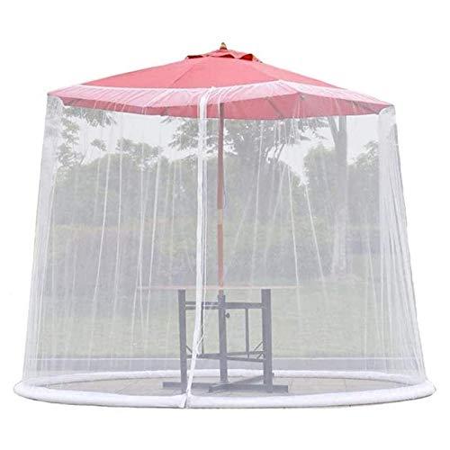 REWD Cubierta de Mosquito de jardín al Aire Libre, Paraguas del Patio Cubre la Fibra de poliéster a Prueba de Agua para Parasol o un gazebot - Excluyendo Paraguas y Base (Color : Default)