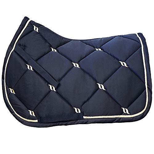 Back on Track® Welltex Nights Collection Saddle Pad Jumping Blue (Full)