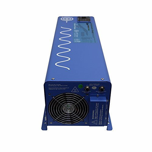 AIMS Power PICOGLF60W24V240VS 24 Volt Pure Sine Inverter Charger, 6000 Watt Low Frequency Inverter 110/220Vac Split Phase, 18000 Watt Surge, Battery Priority Selector, Terminal Block, GFCI
