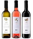 LAUS - Estuche de Vino 3 Botellas de Vinos Jóvenes - Chardonnay 2020, Rosado 2020 y Tinto Joven 2020 - Denominación de Origen Somontano - 3 Botellas de 75 cl - Selectas Variedades - Aromas Frutales