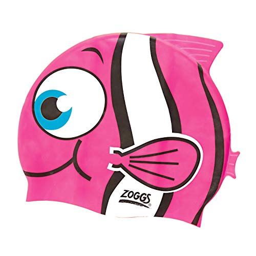 Zoggs Kinder Junior Character Silicone Cap Badekappe, Pink, One Size