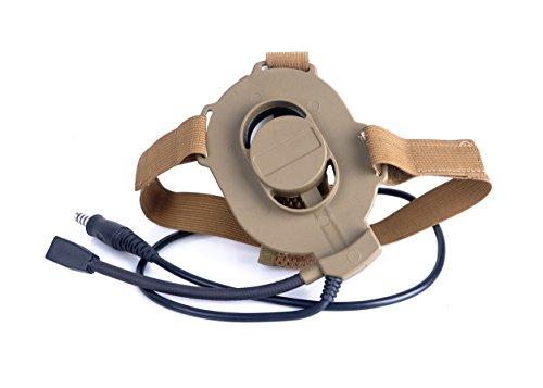 Element Airsoft Z027 Z-TAC Z-Tactical Bowman Elite II Nylon Kunststoff Military Einseitiges Headset für Softair Sniper (Hellbraun)