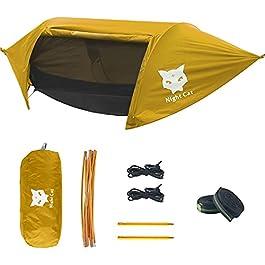 Night Cat Hamac avec Moustiquaire Camping Tente Hamac et Mouche de Pluie pour Une Personne étanche Respirant pour…