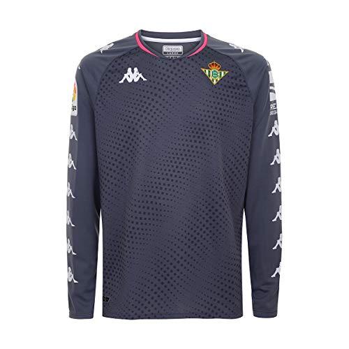 Kappa Kombat Gk Betis Camiseta Portero, Hombre, Gris/Lima/Rosa, XL