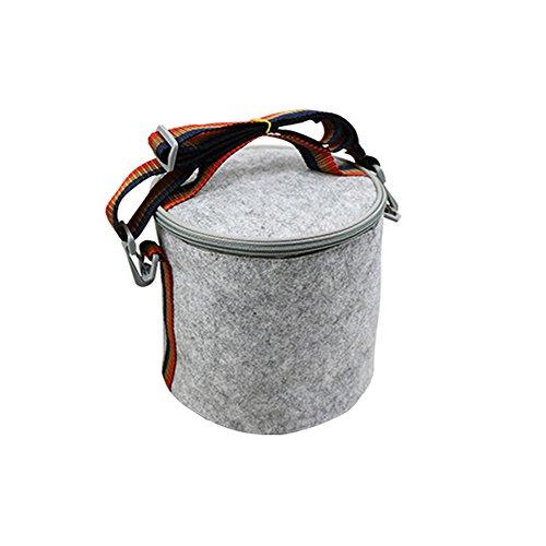 Portable Isolé Thermique Glacière Boîte à Lunch Morts Pique-Nique Sac 23 15 17cm