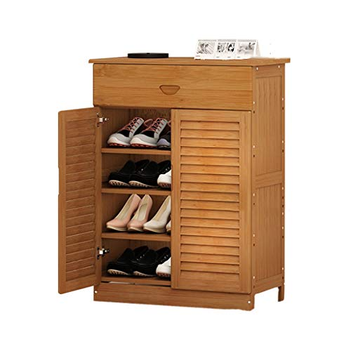 Shoe rack CWT Material de bambú Zapato de puerta Montaje simple de madera maciza Tipo económico Multifuncional ahorro de espacio Práctico zapatero