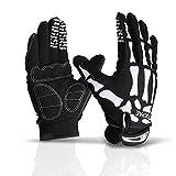 LERWAY MTB Fahrrad Voll Finger warmem Radsport Fahrrad Handschuhe Herren Motorrad Vollfingerhandschuhe Herren Fahrradhandschuhe (Schwarz-M)
